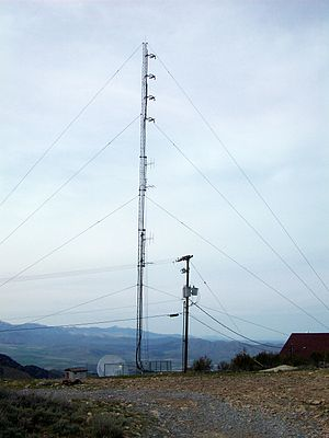 KENZ (FM) - KENZ's radio tower, located atop Lake Mountain.