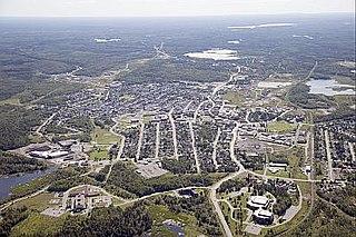 Kirkland Lake Town in Ontario, Canada