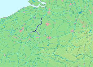 Dender - The course of the Dender