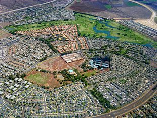 "Aerial photo of ""Villages of Kapolei"" neighborhood"