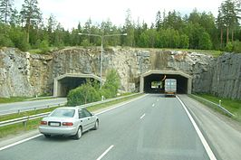 Tunnel in de E63 in Tampere
