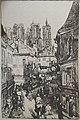 Karl Lotze la cathédrale de Laon 1GM.jpg