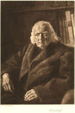 Karl Weierstraß, Heliogravüre nach Gemälde von...