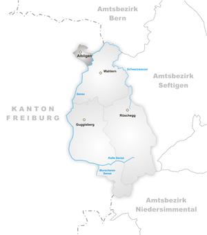 Albligen - Image: Karte Gemeinde Albligen