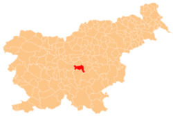 Location of the Municipality of Šmartno pri Litiji in Slovenia