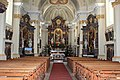 Kath. Pfarrkirche hl. Gertraud von Nivelles Altar.JPG
