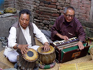 Music of Nepal - Musicians singing devotional songs