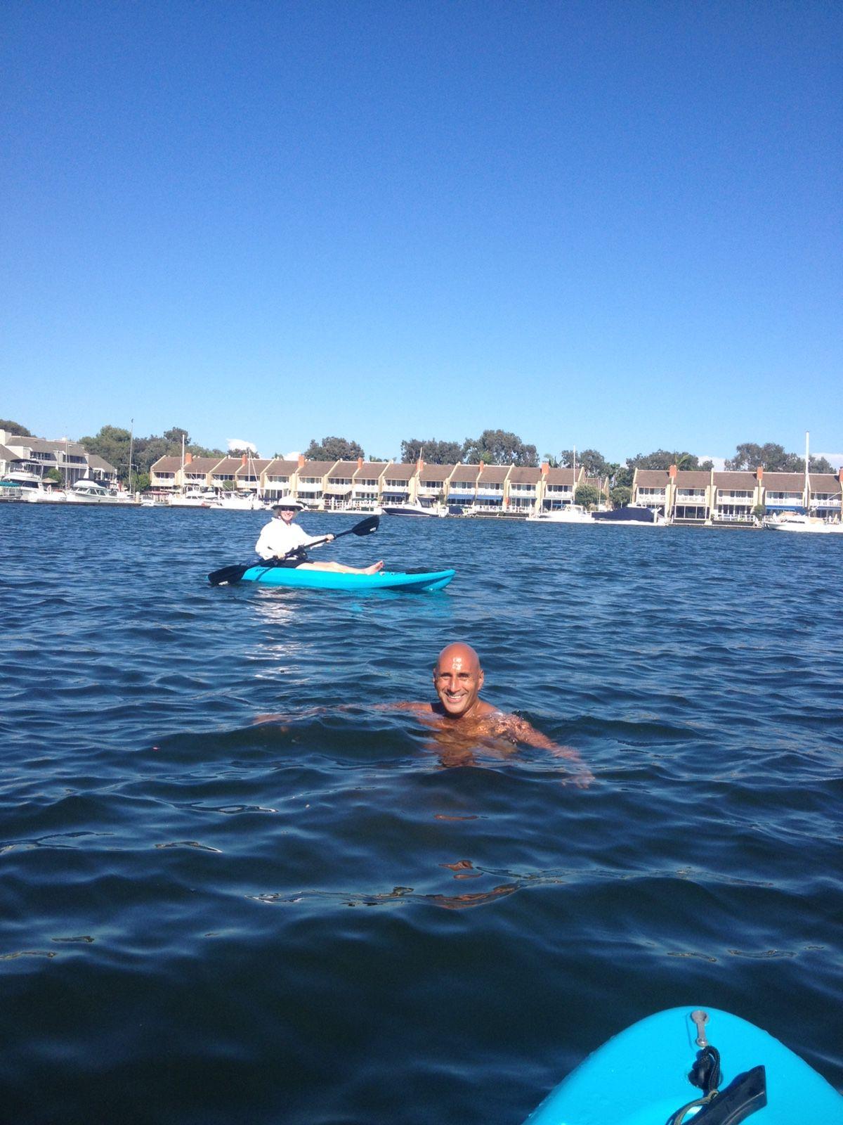 File Kayaking Huntington Harbour Beach California Jpg