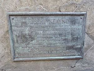 Robert Keayne - Plaque on burial vault in Kings Chapel Burying Ground, Boston