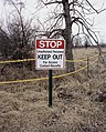 Keep Out sign at Fernald Feed Materials Production Center - 2016 (27905197736).jpg