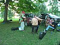 Keith Yoder and friends jam Backbone Bluegrass Festival Strawberry Point IA July 2007.jpg