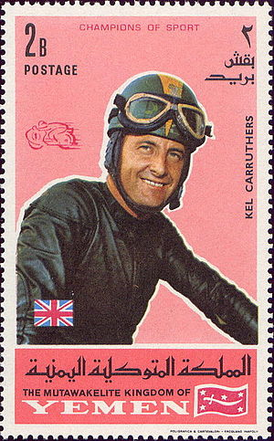 Kel Carruthers - Kel Carruthers on a 1969 stamp