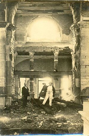 St. Mark's Cathedral, Bangalore - Image: Kenneth Anderson 1923 Fire Damage, St. Mark's Cathedral, Bangalore 02
