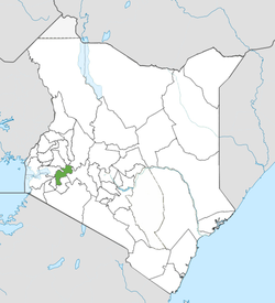 Location of Kericho County (Green)