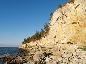 Kesselaid - Kesse cliff on the northwestern side of the island.