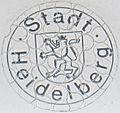Kfz-Zulassungsplakette Stadt Heidelberg alt Perforation.jpg