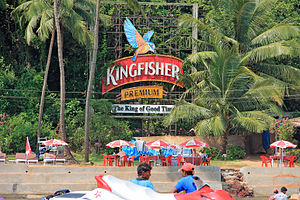 United Breweries Group - A Kingfisher beer advertisement in Goa, Baga