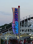 Kings Island WindSeeker sign at Sunset.jpg
