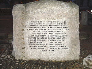 Kingstown lifeboat disaster - Memorial to the crew.