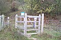 Kissing Gate into Polhill Bank Nature Reserve - geograph.org.uk - 1574413.jpg
