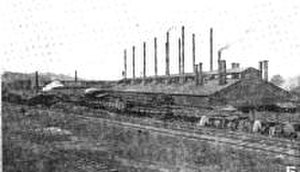Knoxville Iron Company - The Knoxville Iron Company plant, circa 1919
