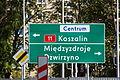 Kołobrzeg - drogowskaz tablicowy umieszczany obok jezdni E-2a.JPG