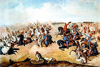 Second Battle of Komárom (1849) - The Second Battle of Komárom. A painting by Mór Than