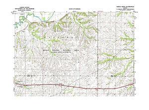 Konza Prairie Biological Station - Image: Konza Prairie USGS Topo Map
