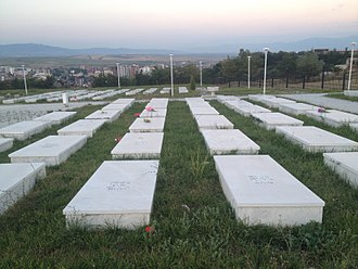 Insurgency in Kosovo (1995–98) - Cemetery of Albanians killed by Serbs during the Kosovo war in Gjakova