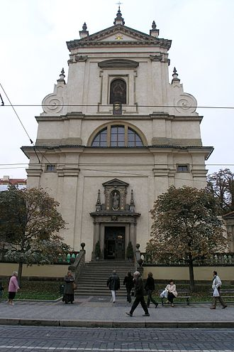 Czech Baroque architecture - Facade of the Church of Our Lady Victorious completed in 1644