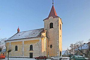 Týnec nad Labem - Image: Kostel Svatého Jana Křtitele v Týnci nad Labem