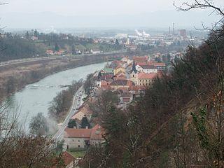 Krško Place in Lower Carniola, Slovenia