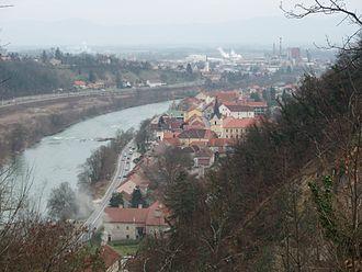 Krško - Image: Krško iz gradu
