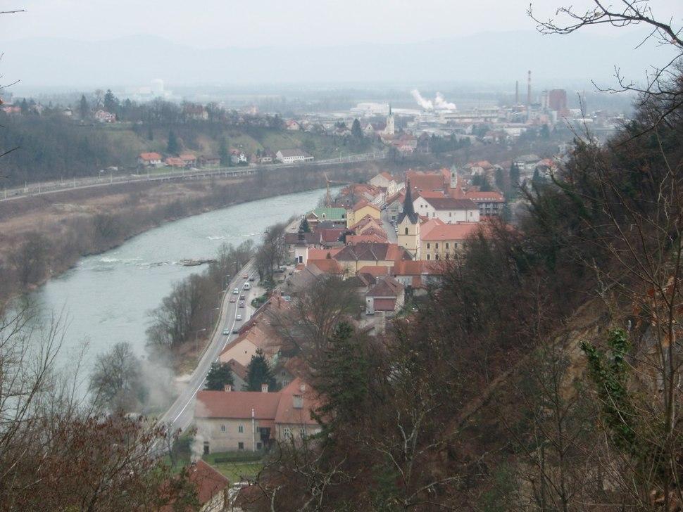 Krško iz gradu