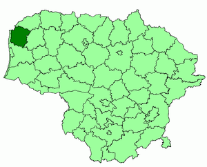 Kretinga District Municipality - Image: Kretinga district location
