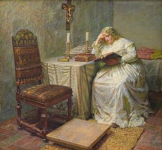 Leonora Christina Ulfeldt - Leonora Christina in Blåtårn by Kristian Zahrtmann, 1891