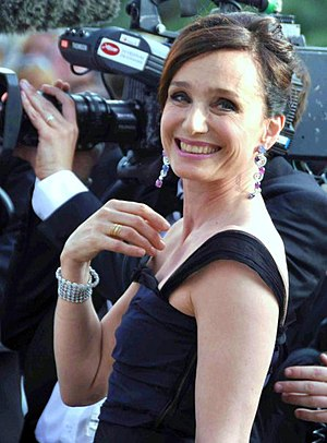 Kristin Scott Thomas at the Cannes film festival.