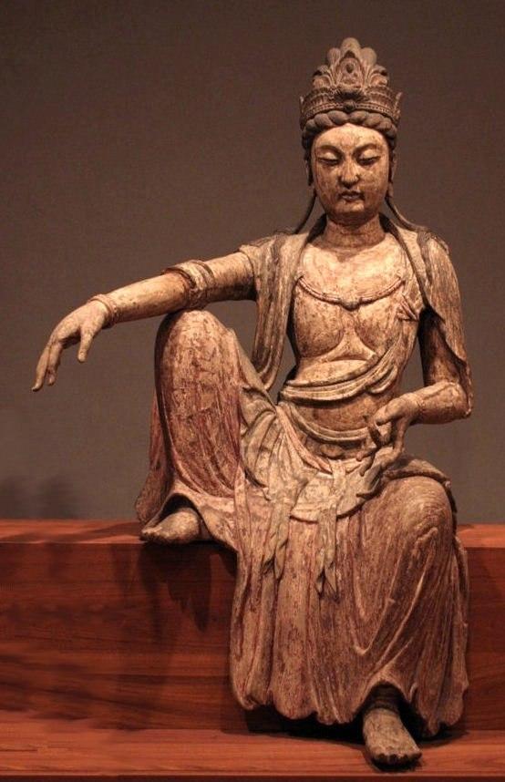 Kuan-yan bodhisattva, Northern Sung dynasty, China, c. 1025, wood, Honolulu Academy of Arts