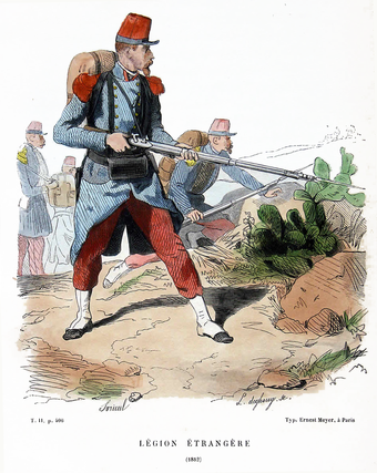 The Legion etrangere in 1852. Legion Etrangere 1852.png