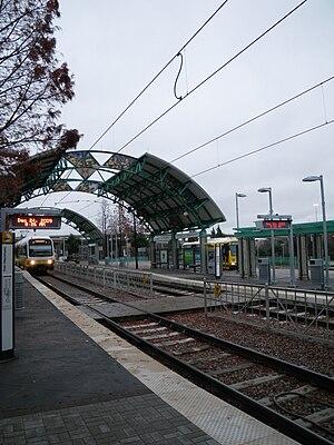 LBJ/Central station - Image: LBJ Central DART Station facing north 2009 12 24