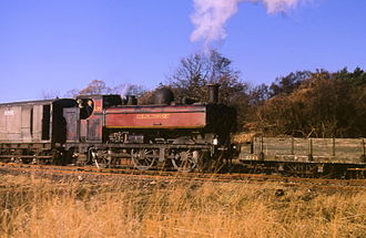 GWR 5700 Class - LT No. L9299, 50 years old, shunts at Croxley Tip in autumn 1969