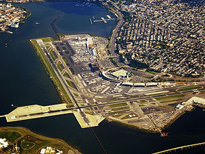 Delta Air Lines Flight 1086 - LaGuardia Airport. The approach end of runway 13 is at the bottom-center of the photo.