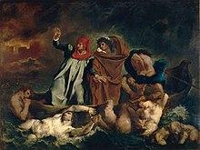 Dante und Vergil in der Hölle, Gemälde von Eugène Delacroix, 1822 (Quelle: Wikimedia)
