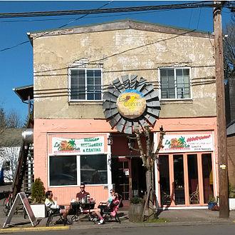 Vernonia, Oregon - La Cabana Restaurant in downtown Vernonia