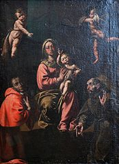 La Vierge à l'Enfant avec saint Charles et saint François