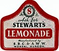 Label from a bottle of Stewarts Lemonade (19250932213).jpg