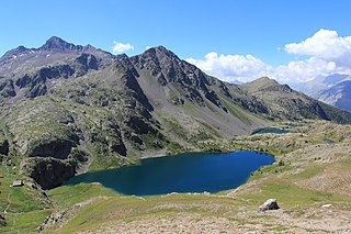Lakes in the French Alps