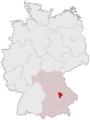 Lage des Landkreises Kelheim in Deutschland.PNG