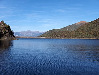 Roncovalgrande Hydroelectric Plant dam in Maccagno
