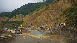Lai Châu Province - Road construction works in Lai Châu province